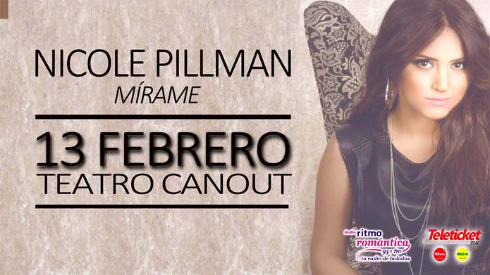 Nicole Pillman en concierto 13 de febrero